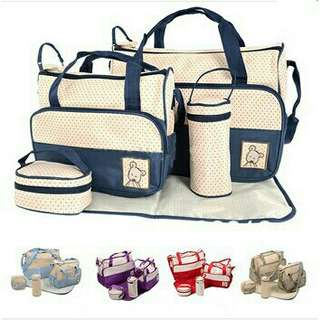 Travel 5 Set Diaper Bag/ Mom's Bag