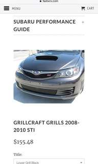 Grillcraft Lower Grille For 2008-2010 WRX STI