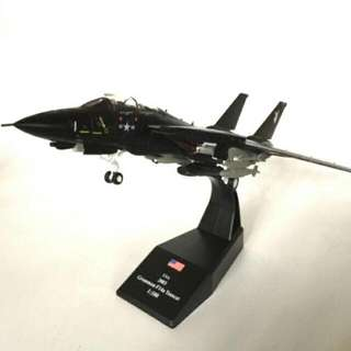 F-14 Tomcat Black Bunny  US Navy 100 Scale Die Cast Model By Amer