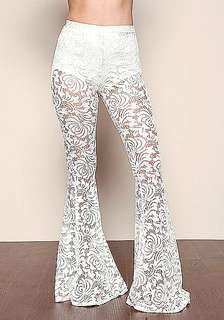 Forever 21 Highwaisted Lace Flared Pants