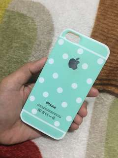 Green polkadot casing 5/5s