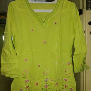 Gamis Warna Lemon UK.M
