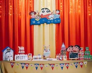 Crayon shin chan party items