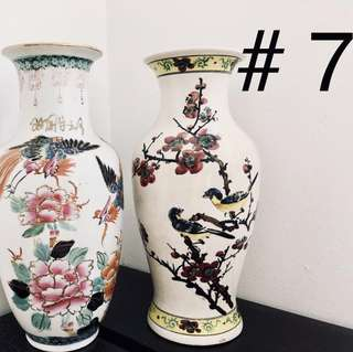 Vases, pottery, etc. Collectible items.