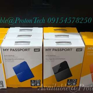 WD MyPassport 1TB & 2TB EXTERNAL HARD DRIVE