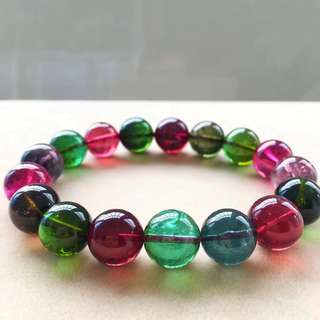 Large granule collection class colourful top luxury color and color tournet bracelet.