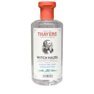 🚚 Thayers, Witch Hazel, Aloe Vera Formula, Alcohol-Free Toner, Unscented, 355ml