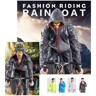 騎行雨衣套裝 分體 雨衣 戶外騎行 防水 反光條 夜光雨衣 雨褲 套裝 自行車服 重機