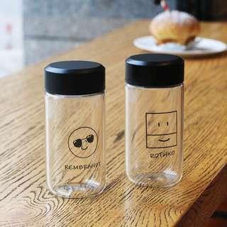 🚚 創意表情玻璃杯(方形笑臉)