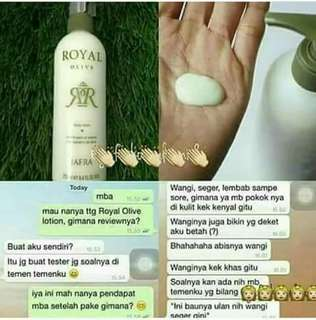 Royal jelly body lotion