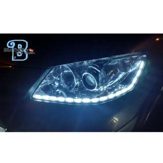 (5) Crystal LED DRL with Running Signal