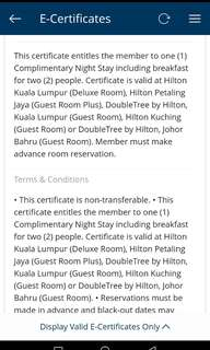 1night stay voucher
