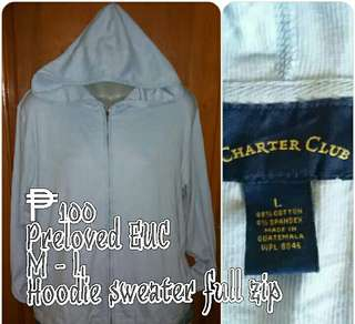 Charter Club Hoodie Knit Sweater