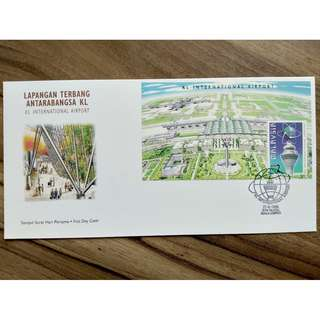 [RARE] Malaysia KLIA Airport First Day Cover Stamp 1998, FDC