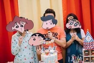 Crayon Shin Chan family & friends- props/ face masks