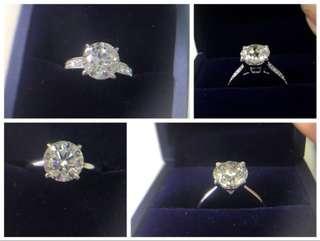 2 卡鑽石 - F/G/H color - 100% 真natural 鑽石