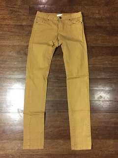 Promod Mustard Skinny Pants