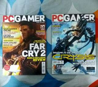 PC GAMER and GAMEAXIS Magazines