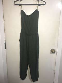 Army Green Romper from Cotton On
