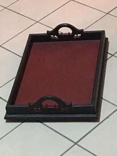 Wooden Serving tray with handle