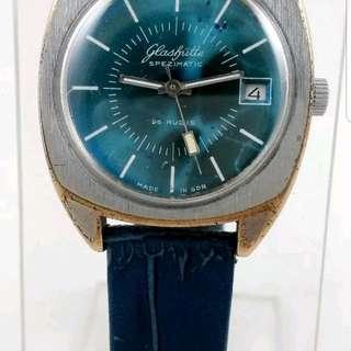 Glashutte Rare Blue Dial Auto Watch