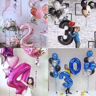 """40""""/32"""" Number Foil Balloon"""