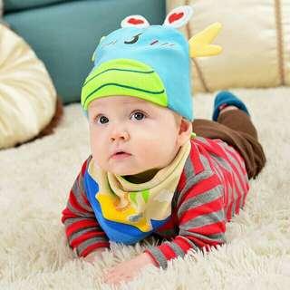 Unisex Crab Baby Hat Cotton Infant Cap Discoloration Hats