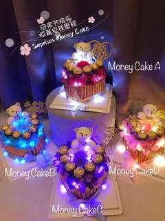 Surprise Money Cake