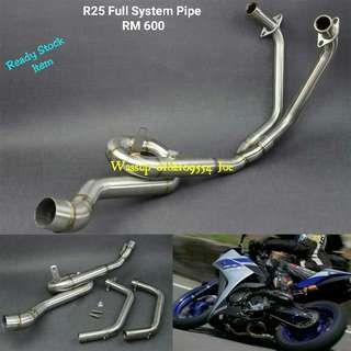 R25 Stainless Steel Full System Pipe