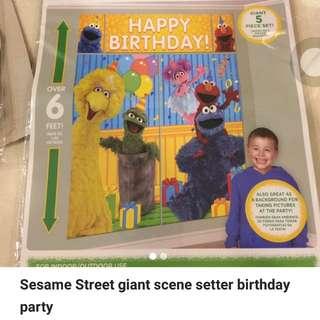 Sesame Street Giant Scene Setter Birthday Party