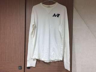 二手A&F 素面貼布logo長袖上衣