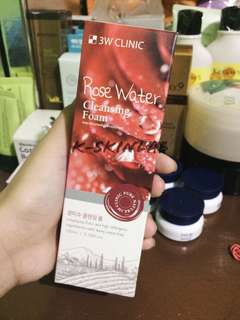 3w clinic rose water cleansing foam