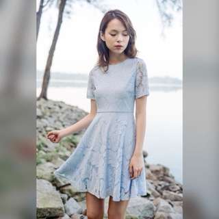 The Leaf Reader Dress (Powder Blue)