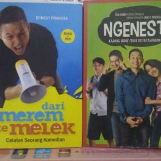 Paket Ernest Prakasa (dari merem ke melek+DVD & Ngenest 2)