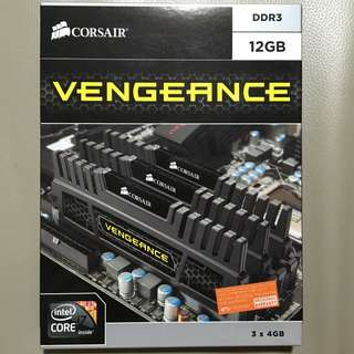 Corsair Vengeance DDR3 1600 12GB (3 x 4GB) - CMZ12GX3M3A1600C9