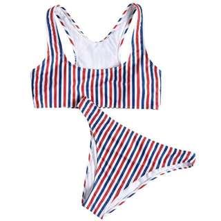 Racerback Stripes Bikini