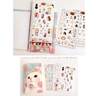 [New] Kitten sticker booklet