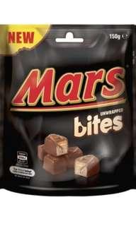 Mars unwrapped bites 朱古力餅/粒