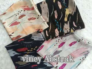 Kerudung Abstrak Viney Polycotton Bellasquare Premium