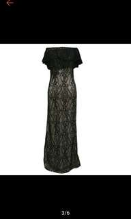 Sexy Women's Shoulder Lace Maxi Evening Maxi Evening Dresses Dress