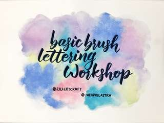 Basic Brush Lettering Workshop
