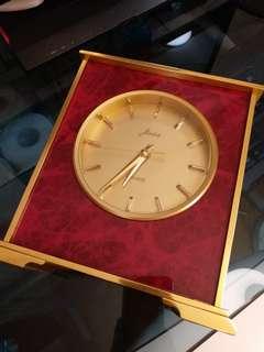 德國JEAID金钃古董石英座鐘重2.5KG