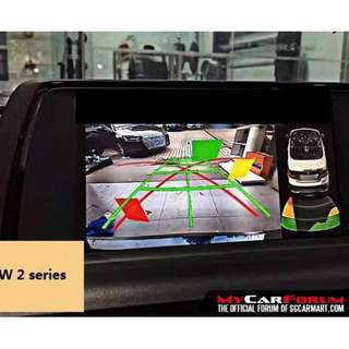 Camera interface with active parking guideline for 2013-2017 BMW all series nbt system