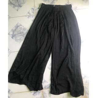 Zara Wide Leg Chiffon Pants