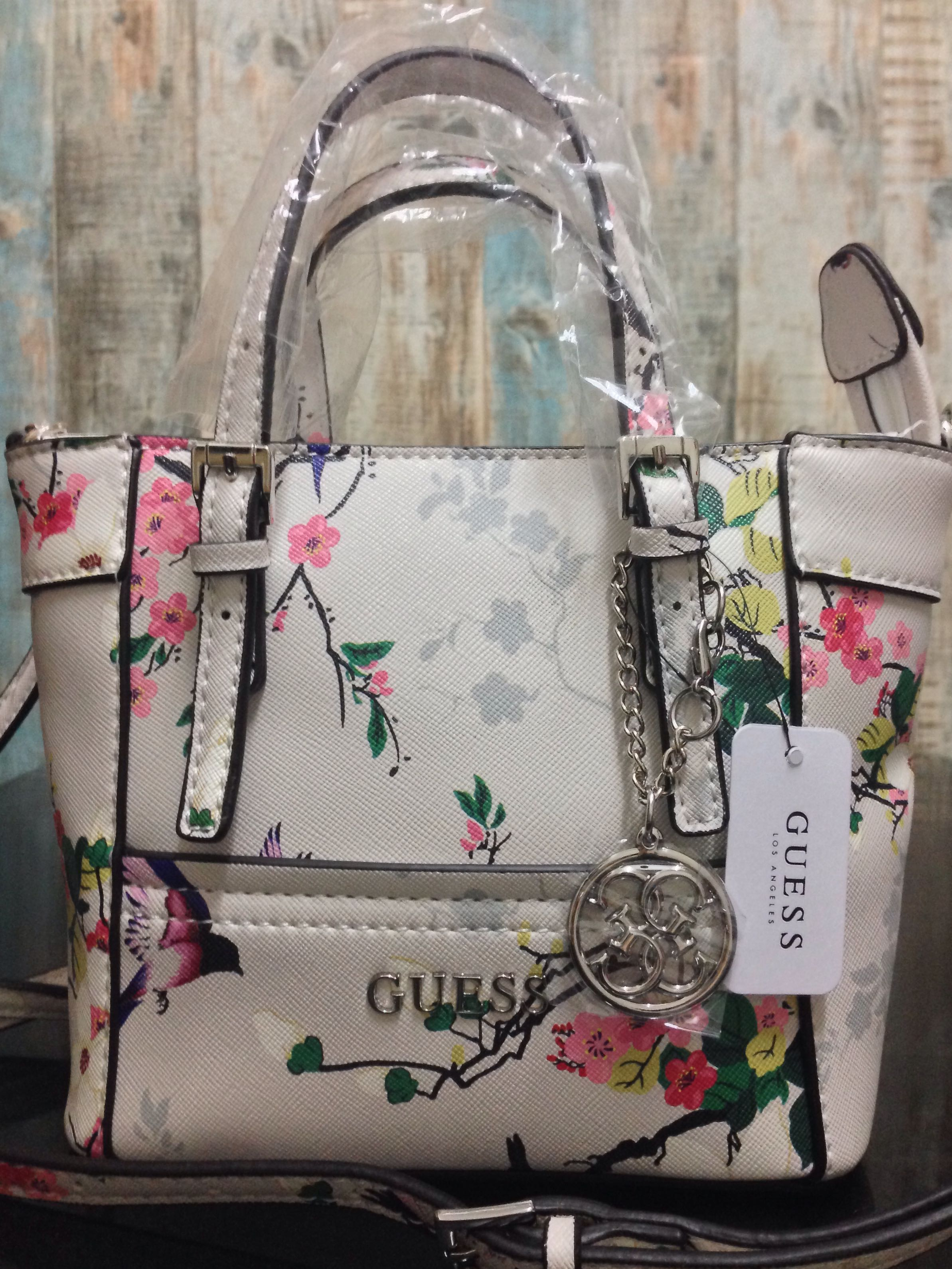 59e4c079ef AUTHENTIC GUESS DELANEY Floral-print Mini Crossbody Hamdbag