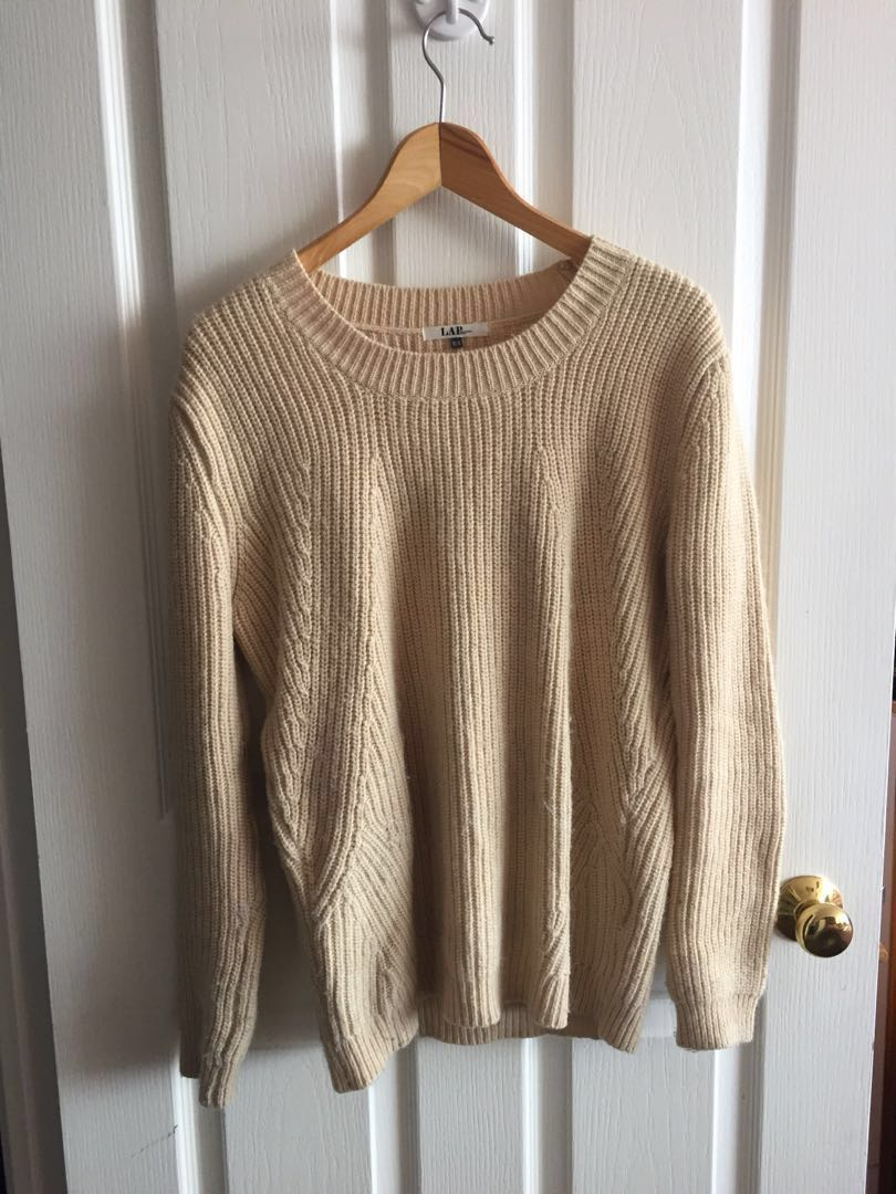 Beige soft sweater women's