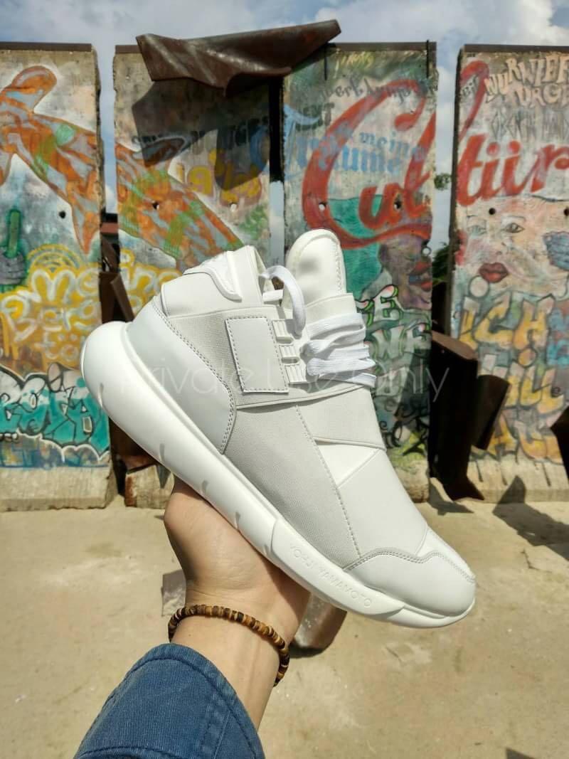 82d61aa379d20 Best Seller) Adidas Y-3 Qasa High Yohji Yamamoto Triple White ...