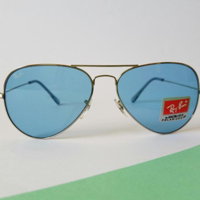 Blue & Silver Aviator Sunnies