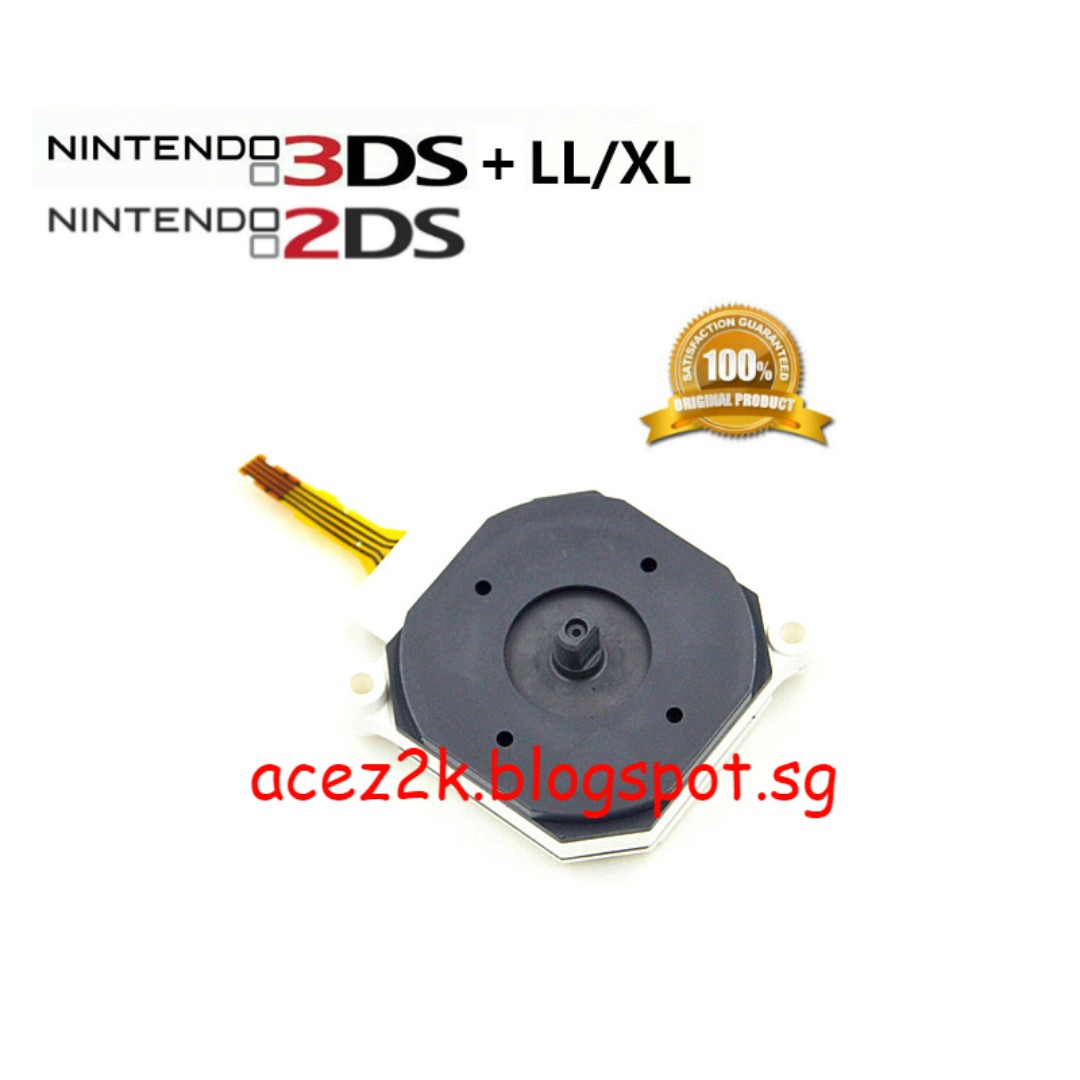 Bn 3ds 2ds Xl Ll Original Nintendo Analog Stick Replacement Brand New Hori Steel Case Silver Photo