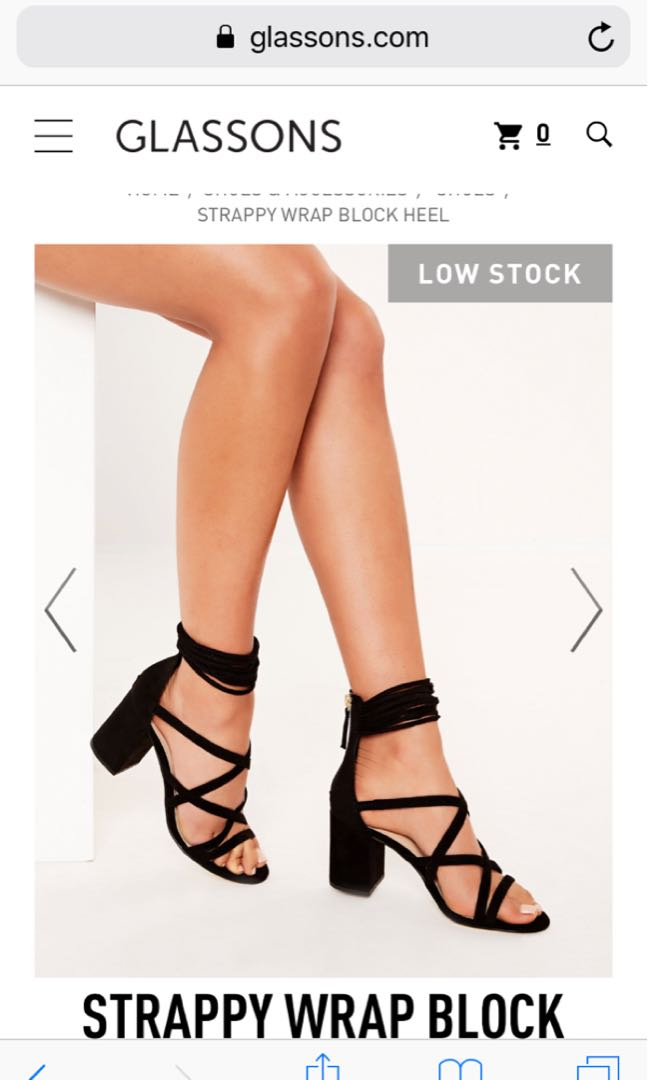 Brand new GREY glassons heels